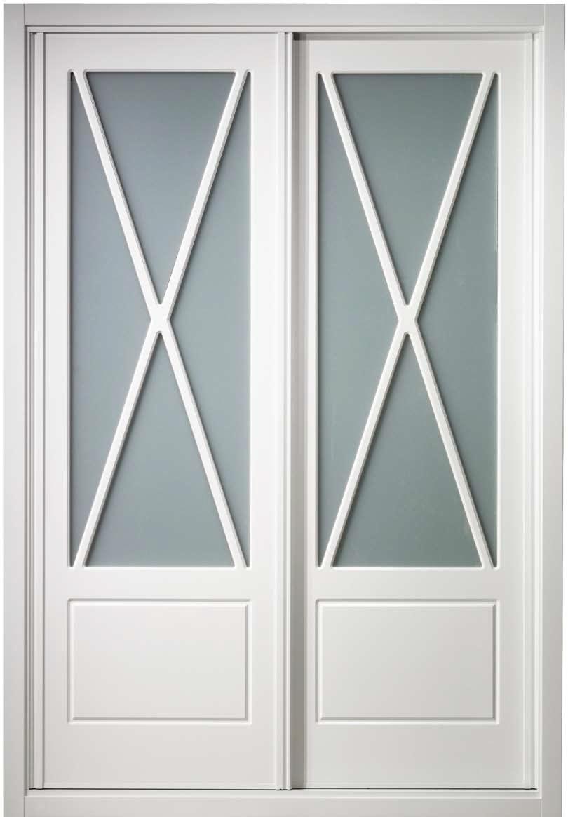 Frente de armario modelo aspas lacado en blanco for Armario blanco ikea dos puertas