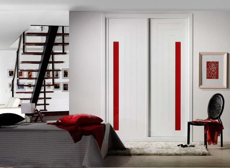 Adesivo De Recorte Curitiba ~ Frente de armario Lacado en blanco pantografiado con