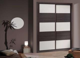 Frente de armario Combinado Roble Ceniza y Blanco