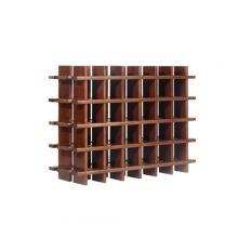 Botellero modular de pino macizo Rioja 24 Teñido Siena
