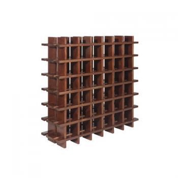 Botellero modular de pino macizo Rioja 36 Teñido Siena